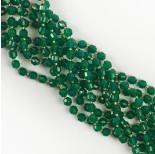 Zdjęcie - Agat zielony baryłka fasetowana