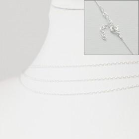 Zdjęcie - Srebrny łańcuszek z zapięciem forza, próba Ag925