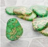 Zdjęcie - Jaspis cesarski zawieszka łezka zielona
