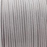 Zdjęcie - Rzemień zamszowy płaski srebrny z brokatem
