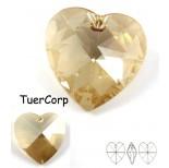 Zdjęcie - 6228 heart pendant, SWAROVSKI, golden shadow,