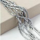Zdjęcie - Hematyt kostka platerowana matowa srebrna