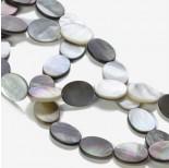 Zdjęcie - Masa perłowa owale stalowe