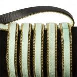 Zdjęcie - Rzemień zamszowy pistacjowy z łańcuszkiem