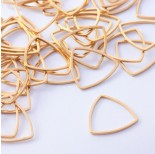 Zdjęcie - Baza geometryczna ze stali chirurgicznej trójkąt zaokrąglony złoty