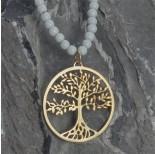 Zdjęcie - Srebrna, złocona zawieszka ażurowa drzewo rodziny, próba Ag925