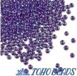 Zdjęcie - Koraliki TOHO Round Inside-Color Aqua/Purple Lined