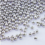 Zdjęcie - Zapięcie stoper z silikonem do cienkich sznureczków kulka srebrny