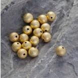 Zdjęcie - Satynowa srebrna kulka Ag 925 pozłacana