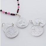Zdjęcie - Srebrna moneta zawieszka Elżbieta II Dei Gratia Regina