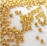 Zdjęcie - Koraliki metalowe kulki w kropeczki