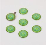 Zdjęcie - Kaboszon szklany kalejdoskop zielono-błękitny