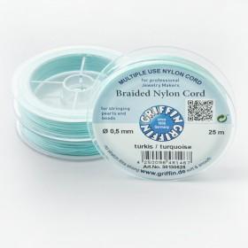 Zdjęcie - Griffin nylonowy sznurek do makramy turquoise