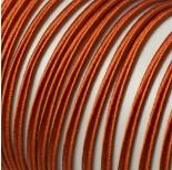 Zdjęcie - Sznurek do sutaszu 3mm ciemna pomarańcz SZPULA
