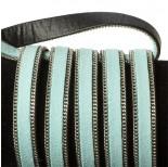 Zdjęcie - Rzemień zamszowy błękitny z łańcuszkiem