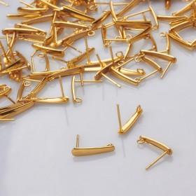 Zdjęcie - Sztyfty łezki ze stali chirurgicznej pozłacane