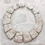 Zdjęcie - Zestaw do naszyjników prostokąty 15 części srebrny
