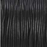 Zdjęcie - Sznurek bawełniany woskowany czarny