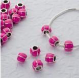 Zdjęcie - Koralik emaliowany pink rose