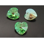 Zdjęcie - 6228 XILION heart pendant, SWAROVSKI, peridot AB