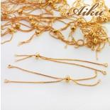 Zdjęcie - Baza bransoletki z cyrkoniami złocona