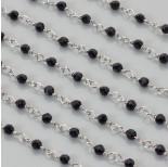Zdjęcie - Łańcuch z kryształkami kulkami jet