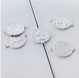 Zdjęcie - Srebrna moneta łącznik Elżbieta II Dei Gratia Regina