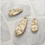Zdjęcie - Kwarc dropy platerowane zestaw złoty