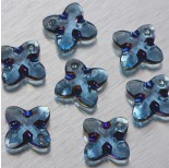 Zdjęcie - 6868 Swarovski Cross Tribe Pendant Aquamarine Metallic Blue