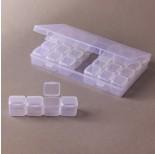 Zdjęcie - Pudełko do koralików 28 zamykanych przegródek