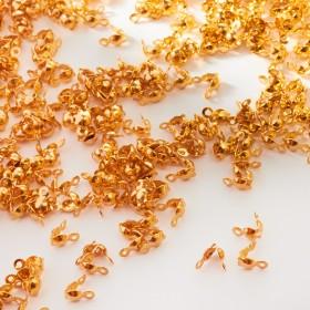 Zdjęcie - Łapaczki dziewczynki ze stali chirurgicznej złote