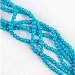 Zdjęcie - Koraliki szklane powlekane niebieskie