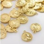 Zdjęcie - Metalowa zawieszka moneta z księżną
