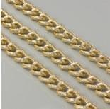 Zdjęcie - Łańcuch aluminiowy owal wygięty kropkowany złoty