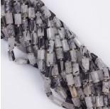 Zdjęcie - Kryształ górski z czarnym turmalinem słupek ciosany