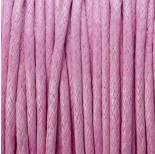Zdjęcie - Sznurek bawełniany woskowany różowy