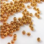 Zdjęcie - Stopper z silikonem do cienkich sznureczków kulka w kolorze złotym
