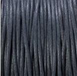 Zdjęcie - Sznurek bawełniany woskowany szary