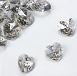 Zdjęcie - 6228, heart pendant, SWAROVSKI, silver patina
