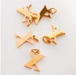 Zdjęcie - Zawieszka ze stali chirurgicznej literka X złota