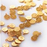Zdjęcie - Srebrna mini zawieszka chińska monetka AG925 pozłacana