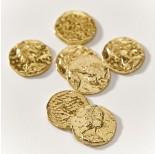 Zdjęcie - Srebrna moneta łącznik duży antyczny AG925 pozłacany