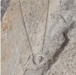 Zdjęcie - Srebrny rodowany koralik obrączka, Ag925