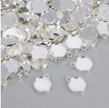 Zdjęcie - Dwustronna baza do zawieszki w kolorze srebrnym