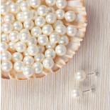 Zdjęcie - Perła majorka kulki do kolczyków biała