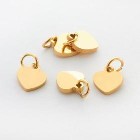 Zdjęcie - Zawieszka ze stali chirurgicznej mini serduszko kolor złoty