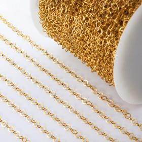 Zdjęcie - Łańcuch ze stali chirurgicznej kółka błyszczące złoty