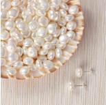 Zdjęcie - Perła majorka krążki do kolczyków biała