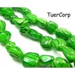 Zdjęcie - Masa perłowa bryłka lakierowana zielona