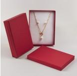 Zdjęcie - Pudełko do biżuterii ozdobne prostokątne czerwone